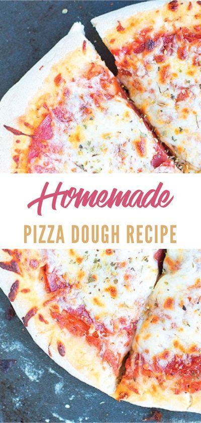 This homemade pizza dough recipe is  SO EASY! Make a classic New York Style pepperoni pizza or use this  pizza crust with your own favorite toppings. Pair with this pizza sauce  recipe or make buffalo chicken pizza! #dinnerrecipes #quickandeasydinnerrecipes #dinnerrecipesforfamily #simpledinnerrecipes #easyhealthydinnerrecipes #dontwastethecrumbs