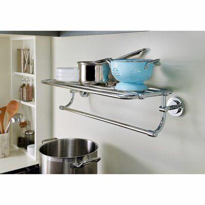 Moen Iso Wall Shelf Finish Brushed Nickel Wall Shelves Shelves