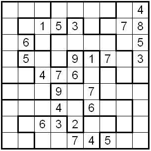 graphic regarding Irregular Sudoku Printable known as The Reasonable International of Puzzles: Abnormal Sudoku sudoku