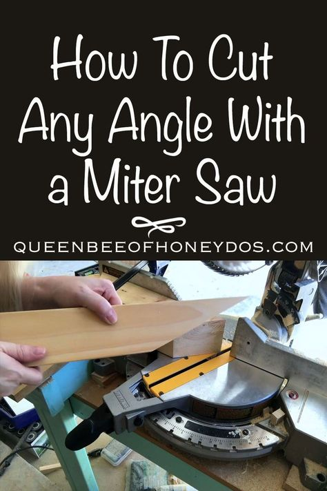 Any Angle Cut With Your Miter Saw! You don't have to be restricted to the angles provided by your miter saw. See how to get any angle imaginable!You don't have to be restricted to the angles provided by your miter saw. See how to get any angle imaginable! Woodworking Jig Plans, Easy Woodworking Projects, Woodworking Techniques, Woodworking Furniture, Woodworking Tools, Diy Projects, Popular Woodworking, Woodworking Magazines, Woodworking Jigsaw