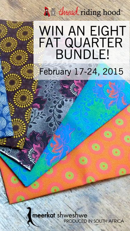 Win a bundle of unique Shweshwe fabric and get a discount from US Etsy shop Yardwork. Discount code, entry form and more. (Giveaway from Feb 17-24, 2015)