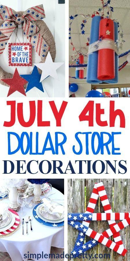 20 Diy Dollar Store Patriotic Decorations Patriotic Decorations Dollar Stores Dollar Store Crafts
