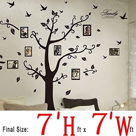 Dagou Huge 7 Fth X 7 Ftw Wall Decals Memory Tree And Birds Wall