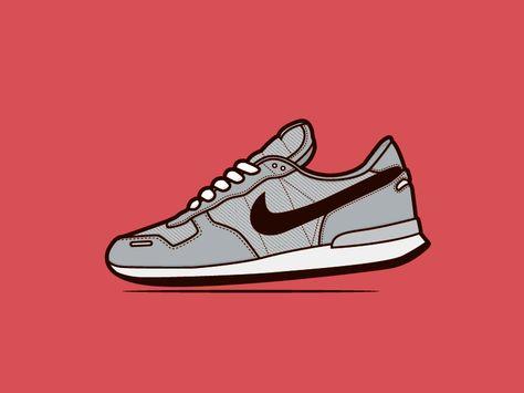 retro running shoes | Illustration | Pinterest | Running shoes, Running and  Retro