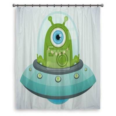 Ufo Alien Shower Curtains