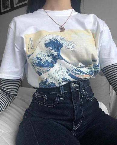 The Great Wave Off Kanagawa Tee Edgy Outfits Retro Outfits Clothes