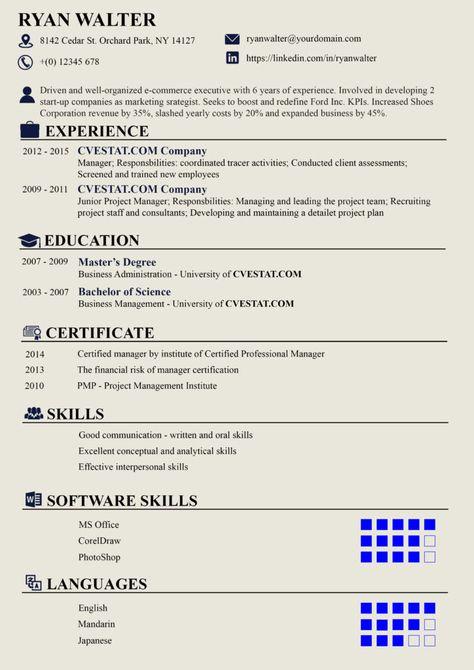 Pin Di Cv And Resume