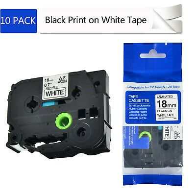 Brother P-Touch Electronic Labeling System Tape TZ-241 Black Print White Tape