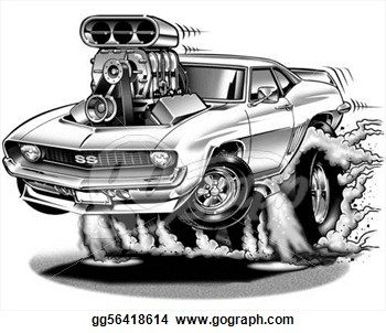 Cool Muscle Cartoon Cars Camaro Cartoon Dap Of Ratfink