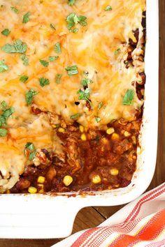 Late Summer Vegetable Enchilada Pie