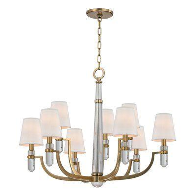 Everly Quinn Abels 9 Light Shaded Classic Traditional Chandelier Hudson Valley Lighting Chandelier Chandelier Lighting