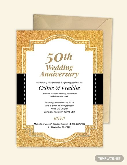 50th Fall Wedding Anniversary Invitation Template Free Pdf Word Doc Psd Apple Mac Pages Illustrator Publisher Outlook 50th Wedding Anniversary Invitations 50th Anniversary Invitations Golden Anniversary Invitations