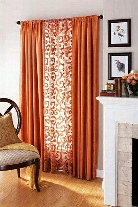 Textile Thursday   Decorating With Orange Curtains | Orange Curtains,  Classy Living Room And Living Rooms