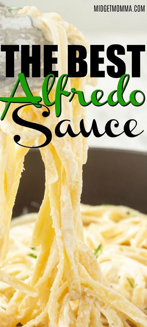 THE BEST ALFREDO SAUCE! Cheesy, rich, and classic, enjoy a divine copycat version of the amazing Olive Garden Alfredo Sauce. To be 100% honest, it is better than theirs! Perfect easy alfredo sauce recipe that is quick and easy! #alfredosauce #olivegardencopycat #olivegarden #easy #recipe #keto #withcreamcheese #alfredo #chickenalfredo #copycat #easyalfredosauce #italian #italianfood #pasta #CopyCatRecipe #Pasta #PastaSauce  #fettuccini #fettuccinialfredo #easypasta #easydinner #MidgetMomma #food