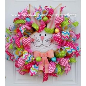 Whimsical Bunny Easter Wreath