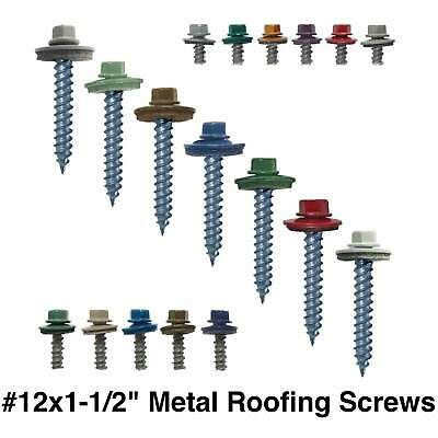 12x1 1 2 Colored Painted Metal Roofing Screws For Corrugated Roofing Siding In 2020 Metal Roof Wood Roof Corrugated Roofing