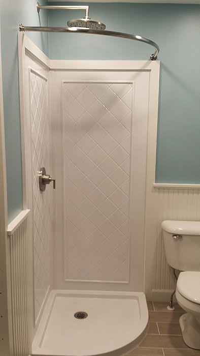 Attractive Small Bathroom Chic: Expand Your Space With A Curved Shower Curtain Rod | Shower  Curtain Rods, Small Bathroom And Bliss