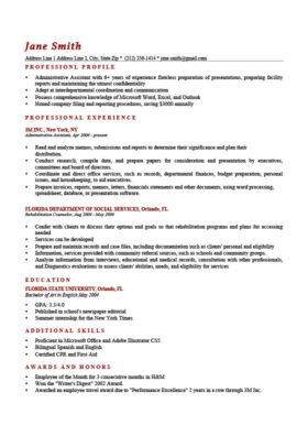 Professional Resume Templates Resume Profile Professional