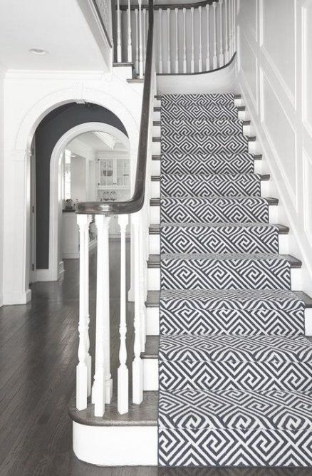 Stairs Carpet Dark 30 Ideas Stairs With Images Beautiful | Black And White Stair Carpet | Interior Design | Light Grey | Unusual | Design | Beautiful