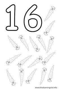 Numeros Ilustrativos Para Colorir De 1 A 20 Em 2020 Paginas Para