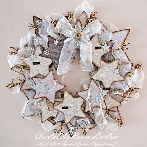 White star wreath. Beautiful!