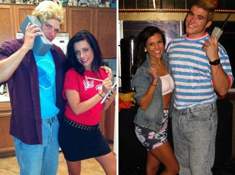 25 Awesome Halloween Costumes via Brit + Zack and Kelly from Saved by the Bell.