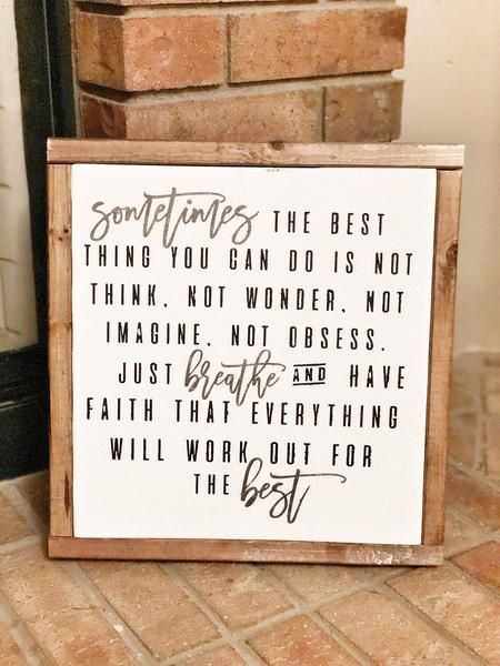 Sometimes the best thing you can do... – Love Conquers All Custom Woodwork