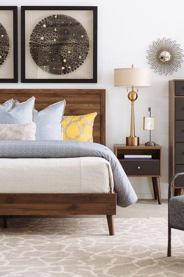 Mid Century Modern King Bed In Brown Mid Century Modern Master