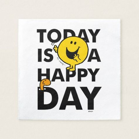 Mr. Happy | Today is a Happy Day Napkins