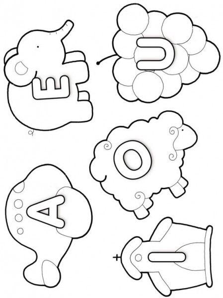 Las Vocales Vocales Para Colorear Actividades Para Niños Preescolar Actividades De Lectura Preescolar