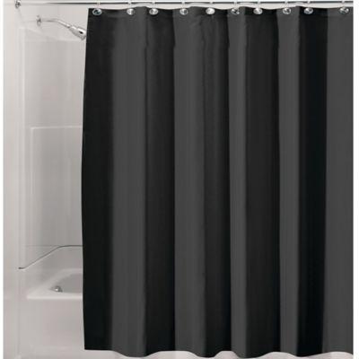 Interdesign Waterproof Fabric Shower Curtain Liner In Black