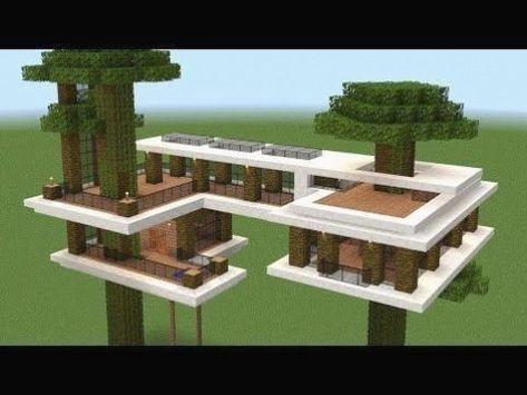 Minecraft Treehouses, Villa Minecraft, Minecraft World, Cute Minecraft Houses, Minecraft House Tutorials, Minecraft Houses Survival, Minecraft Plans, Minecraft Houses Blueprints, Minecraft House Designs