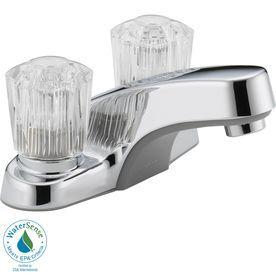 Peerless Chrome 2-Handle 4-In Centerset Watersense Bathroom