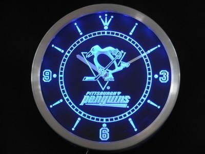 Penguins Neon Sign Led Wall Clock Led Wall Clock Neon Clock Neon Signs