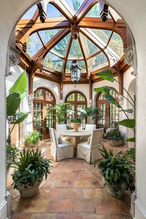 Grand Victorian Style Sun Room dream house luxury home house rooms bedroom furniture home bathroom home modern homes interior penthouse Home Interior Design, Exterior Design, Best Home Design, House Ideas Exterior, Gothic Interior, Interior Garden, Bohemian Interior, Interior Plants, Room Interior
