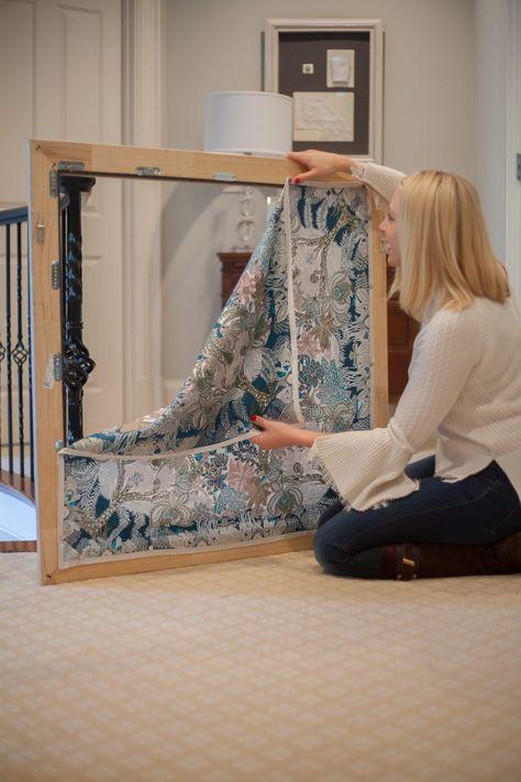 Easy Art Hanging System to Display Hermes Vintage Scarf