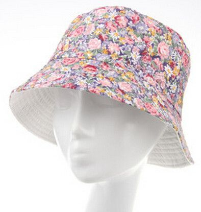 64376ec8f40 Flowers Print Cute Chapeu Feminino Bucket Hat Women Summer Outdoor Sun Caps  for Girls 10 Models for Choose