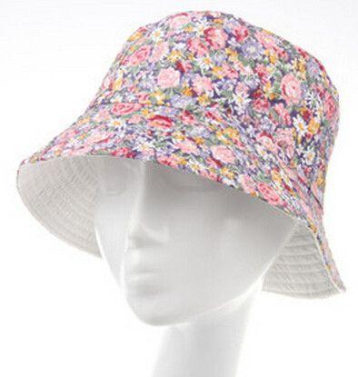 dc5f53137c272 Flowers Print Cute Chapeu Feminino Bucket Hat Women Summer Outdoor Sun Caps  for Girls 10 Models for Choose