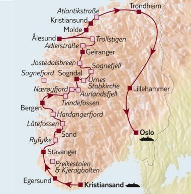 Auto Rund Reise Norwegen Norwegen Rundreise Norwegen Urlaub