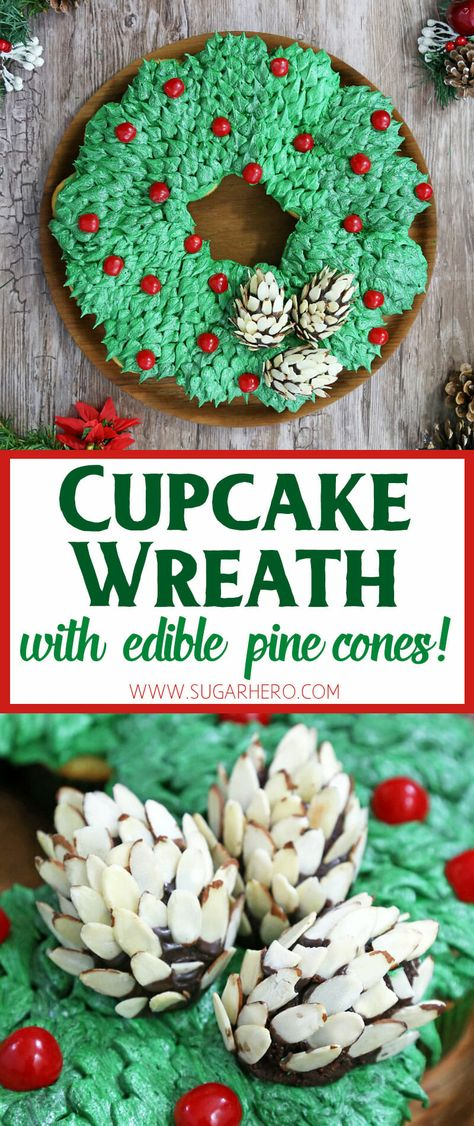 Pull-Apart Cupcake Wreath Cake