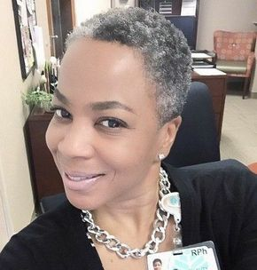 58 Shiny Short Hairstyles For Black Women Over 50 New Natural Hairstyles Short Grey Hair Natural Hair Styles Hair Styles