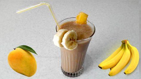 عصير الموز و المانجو بالحليب في 5 دقائق سموثي المانجو و الموز مطبخ Food Desserts Pudding