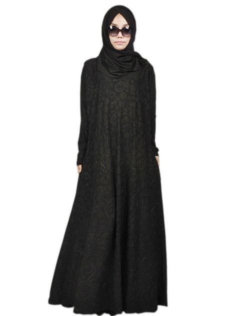 49ba13e58d8 PINTUCK BLACK ABAYA | Muslimah fashion | Black abaya, Hijab fashion, Abaya  designs