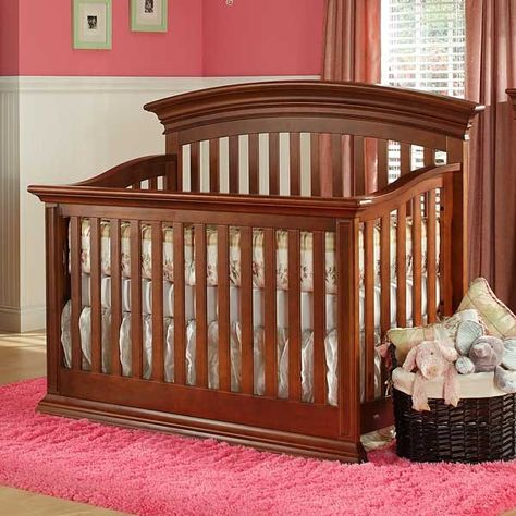 Legendary Curve Top Crib In Cinnamon By Baby S Dream Dream Furniture Kids Furniture Stores Baby Furniture