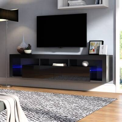 George Oliver Floating Entertainment Center For Tvs Up To 60 Lemington Et Commentaires Wayfair Ca In 2020 Floating Tv Stand Living Room Tv Tv Stand