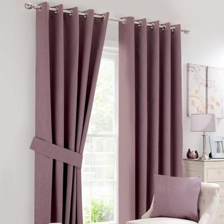 Dunelm Solar Purple Blackout Eyelet Curtains Size 168 X 228 Cm Mauve Curtains Width 46 Drop 90 Thermal Bedroom Curtains In 2020 Curtains Blackout Eyelet Curtains Cool Curtains
