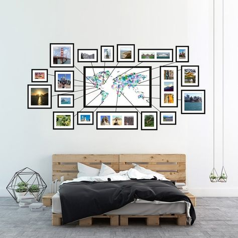 World Map Pin Board River Systems Earthtones Watercolor Travel Wall Decor, Map Wall Decor, Wall Maps, World Map Pin Board, World Map With Pins, Travel Gallery Wall, World Map Decor, World Map Wall Art, Off White Walls
