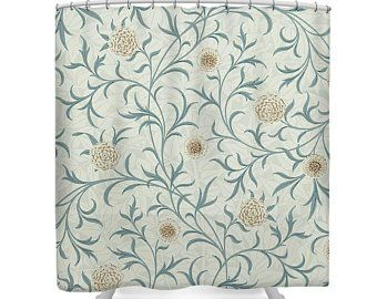 William Morris Blackthorn Lined With Velvet Portiere Door Curtain