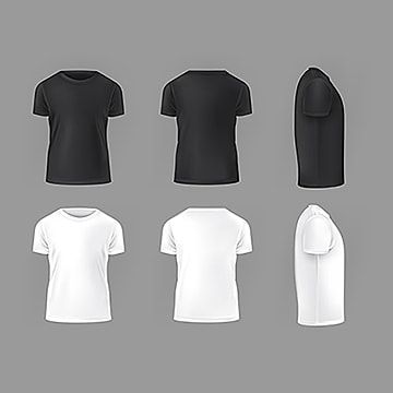 Download Vector Set Template Of Male T Shirts Shirt Templatefront Back Png And Vector With Transparent Background For Free Download Kaos Pria Baju Kaos Pakaian