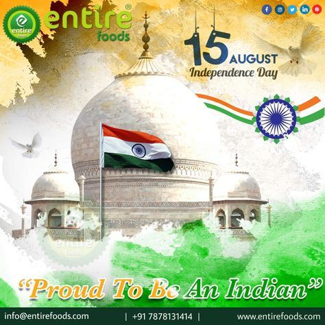 Happy Independence Day 🇮🇳 15 August #स्वतंत्रतादिवस #JaiHind #VandeMatram Entire Foods
